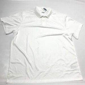 Old Navy Men's Golf Polo Shirt Short Sleeve White